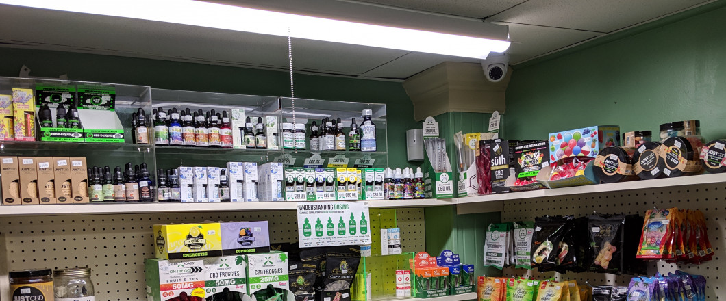 NEW:  CBD, edibles, tintures, vape oils, pet treat's, and hemp bud